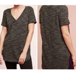 NEW Anthropologie Cloth & Stone Grey Shirt